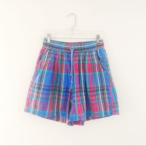VINTAGE: plaid flowing shorts